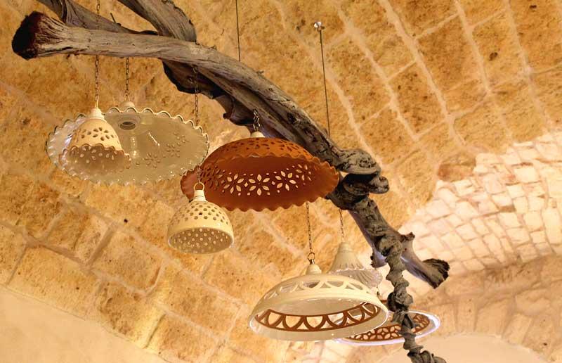 lampadari terracotta : Illuminazione in ceramica